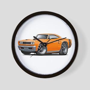 1969 Coronet Orange Car Wall Clock