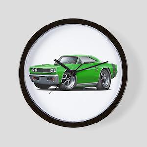 1969 Coronet Green Car Wall Clock