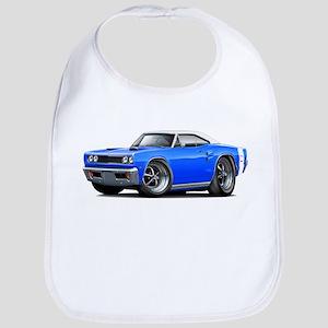 1969 Coronet Blue-White Car Bib