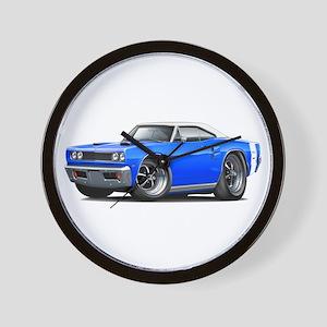 1969 Coronet Blue-White Car Wall Clock