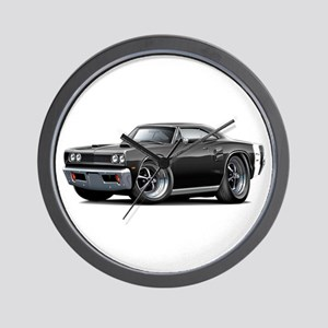 1969 Coronet Black Car Wall Clock