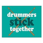 Drummers Stick Together Percussion Poster