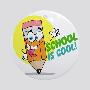 School is Cool Ornament (Round)