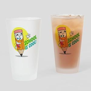 School is Cool Drinking Glass