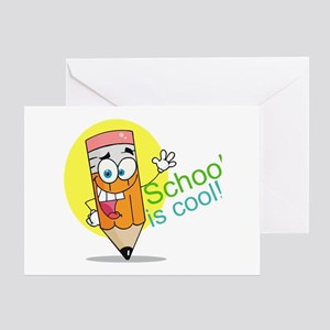 School is Cool Greeting Card