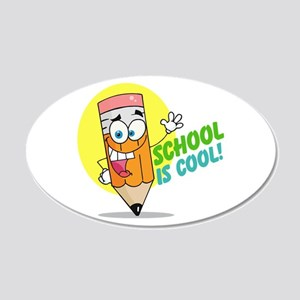 School is Cool 22x14 Oval Wall Peel