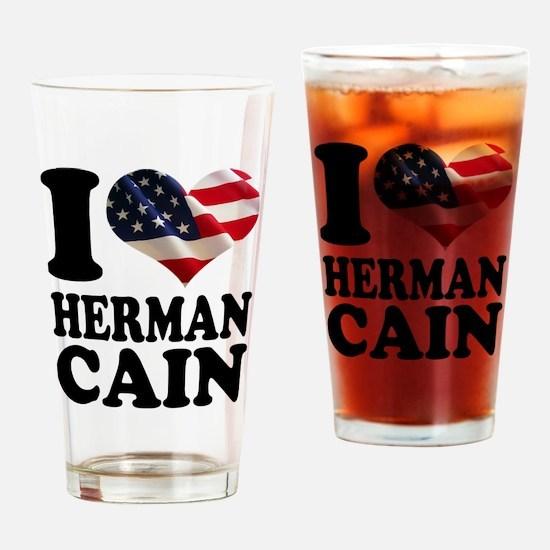 I heart American Flag Herman Drinking Glass