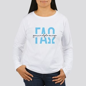 Gamma Alpha Omega Polk Women's Long Sleeve T-Shirt
