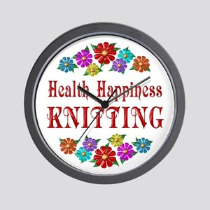 Knitting Happiness Wall Clock
