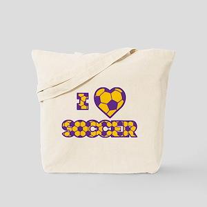 I Love Soccer Tote Bag (2-sided)