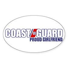 USCG Girlfriend Sticker (Oval)