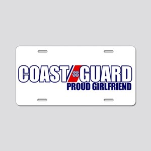 USCG Girlfriend Aluminum License Plate
