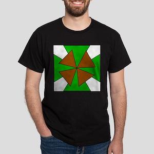 Green and Brown Crosses Dark T-Shirt