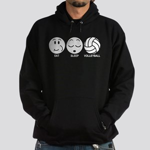 Eat Sleep Volleyball Hoodie (dark)