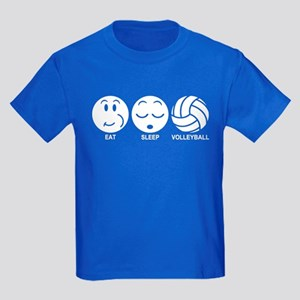 Eat Sleep Volleyball Kids Dark T-Shirt