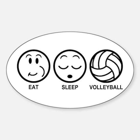 Eat Sleep Volleyball Sticker (Oval)