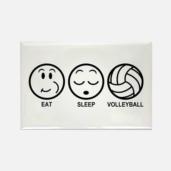 Eat Sleep Volleyball Rectangle Magnet