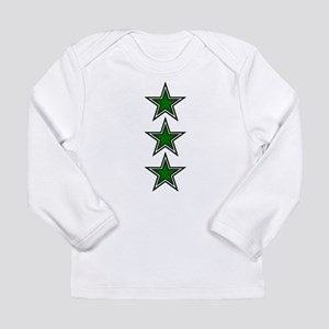 Green Star Belly Long Sleeve Infant T-Shirt