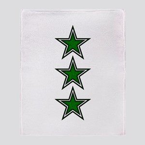 Green Star Belly Throw Blanket