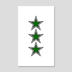 Green Star Belly 22x14 Wall Peel