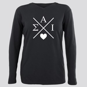 Sigma Alpha Iota Letters Plus Size Long Sleeve Tee