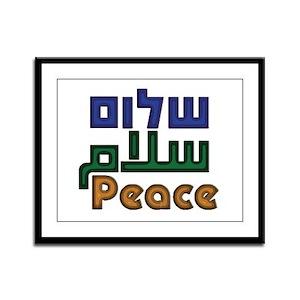 Shalom Salaam Peace Framed Panel Print