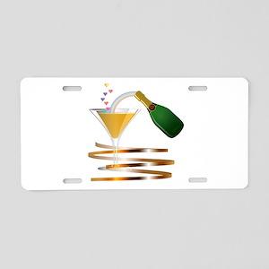 Champagne Party Celebration Aluminum License Plate