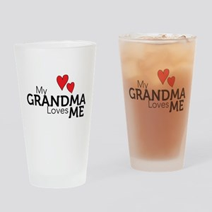 My Grandma Loves Me Drinking Glass
