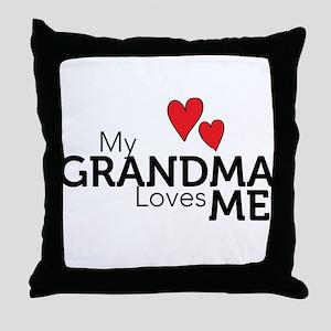 My Grandma Loves Me Throw Pillow