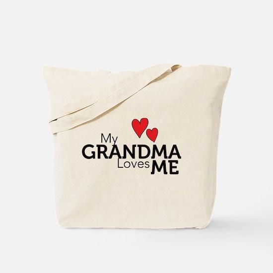 My Grandma Loves Me Tote Bag