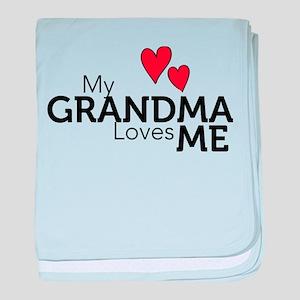 My Grandma Loves Me baby blanket