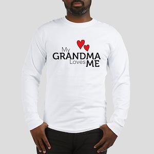 My Grandma Loves Me Long Sleeve T-Shirt