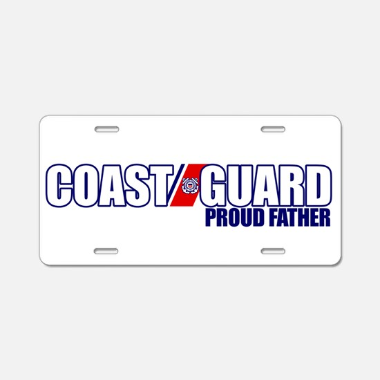 USCG Father Aluminum License Plate