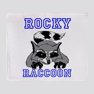 Rocky Raccoon Throw Blanket