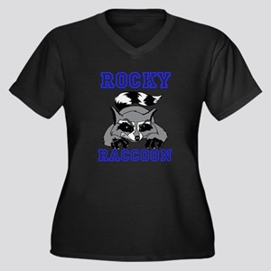 Rocky Raccoon Women's Plus Size V-Neck Dark T-Shir