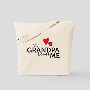 My Grandpa Loves Me Tote Bag
