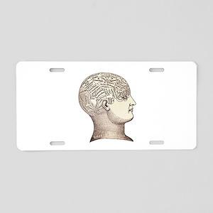 Victorian Phrenology Aluminum License Plate