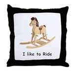 I Like To Ride Throw Pillow
