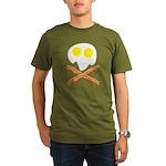 Breakfast Pirate Organic Men's T-Shirt (dark)