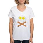 Breakfast Pirate Women's V-Neck T-Shirt