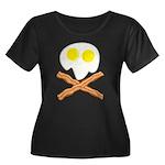 Breakfast Pirate Women's Plus Size Scoop Neck Dark