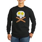 Breakfast Pirate Long Sleeve Dark T-Shirt