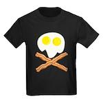 Breakfast Pirate Kids Dark T-Shirt