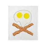 Breakfast Pirate Throw Blanket