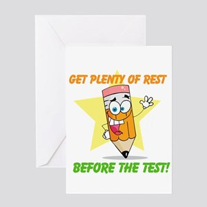 Rest Before the Test Greeting Card