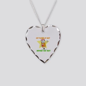 Rest Before the Test Necklace Heart Charm