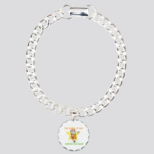 Rest Before the Test Charm Bracelet, One Charm