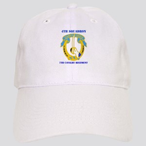 DUI - 4th Sqdrn - 7th Cavalry Regt with Text Cap