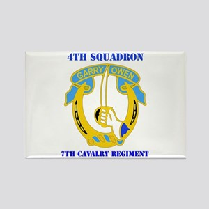 DUI - 4th Sqdrn - 7th Cavalry Regt with Text Recta