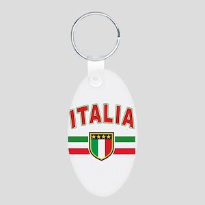 italian pride Aluminum Oval Keychain